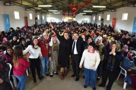 Başkan Ataç kırsalda 3 bin kadın ile buluştu
