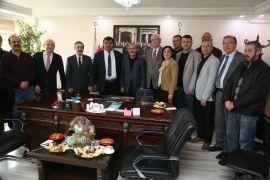 Başkanlar esnaf odalarını ziyaret etti