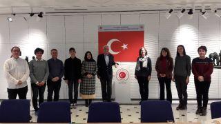 Büyükelçisi Üğdül, Eskişehir Fatih Fen Lisesi proje heyetini kabul etti