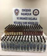 Eskişehir'de 180 şişe gümrük kaçağı içki ele geçirildi