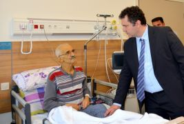 İl Sağlık Müdürü Bilge'den palyatif bakım hastalarına ziyaret