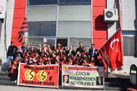 Minik öğrencilerin Eskişehirspor sevgisi