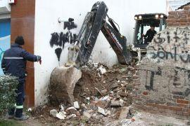 Odunpazarı Belediyesi metruk binalarda çalışmalarına devam ediyor