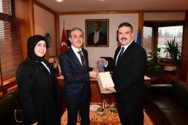Savunma Sanayii Başkanı Prof. Dr. Demir, Rektör Prof. Dr. Çomaklı'yı ziyaret etti