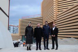 Vali Çakacak, Eskişehir Modern Sanat Müzesi inşaatında inceleme yaptı