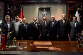 Başkan Ataç'a tebrik ziyaretleri sürüyor