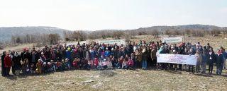 Çocuk evleri ve yurtlarda kalan çocukların katılımı ile fidan dikildi