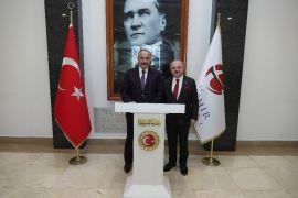 Genel Sekreteri Hacımüftüoğlu, Vali Çakacak'ı ziyaret etti