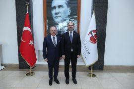 Vali Çakacak, PTT Genel Müdürü Bozgeyik'i kabul etti
