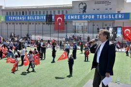 Yunus Emre Spor Tesislerinde Bahar Şenliği ile 23 Nisan kutlaması