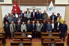 Başkan Ataç'a ziyaretler sürüyor