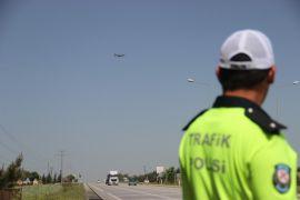 Eskişehir'de drone destekli trafik denetimi