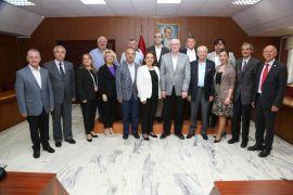 Tepebaşı Belediye Meclis Üyeleri, Kazım Kurt'u ziyaret etti