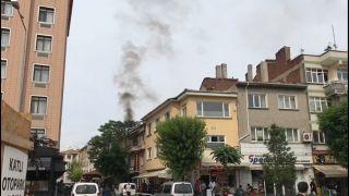 Eskişehir'de baca yangını panik oluşturdu