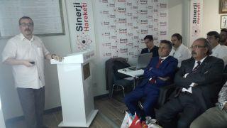 Gürcan Banger Sinerji Hareketi Derneğinde sunum gerçekleştirdi