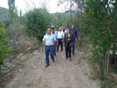 Milletvekili Günay Sarıcakaya'daki afetzedelerle görüştü