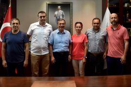 Tenis kulübünden Başkan Ataç'a ziyaret
