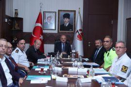 Trafik Değerlendirme Toplantısı Vali Çakacak'ın başbakanlığında yapıldı