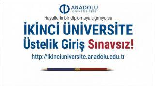 Açıköğretim ikinci üniversite kayıtları başlıyor