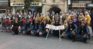 Tepebaşı Halk Dansları Topluluğu'ndan Kapadokya'da gösteri