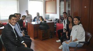 Rektör Çomaklı'dan öğrenci kulüpleri koordinatörlüğüne ziyaret