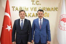 Rektör Şenocak'tan Bakanlar Pakdemirli ve Gül'e ziyaret