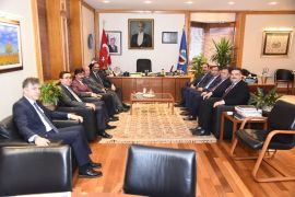 DDK Başkanı Yunus Arıncı'dan Rektör Çomaklı'ya ziyaret