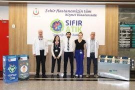 Eskişehir Şehir Hastanesi'nde geri dönüşüme önemli katkı sağlanıyor