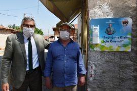 İnönü Belediyesi esnafa dezenfektan dağıttı