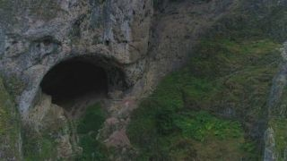 (Özel) Tarih öncesi mağaralar havadan görüntülendi