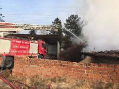 Kırka'daki hızar atölyesinde yangın