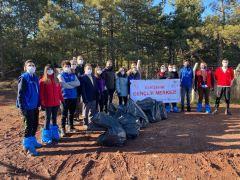 Kokakır ormanlık alanında yine çöp temizliği yapıldı