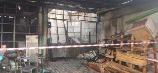 Mahmudiye'de yangın