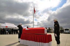 Vefat eden polis memuru için tören düzenlendi