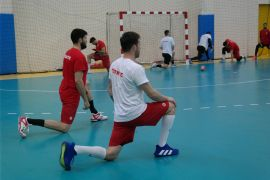 A Milli Erkek Hentbol Takımı, Slovenya maçına hazır