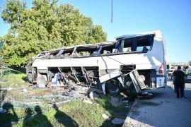 İki kişinin hayatını kaybettiği otobüs kazası davası ertelendi