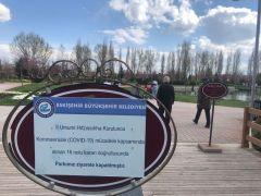 Park girişindeki 'Kapalı' uyarısını umursamadılar