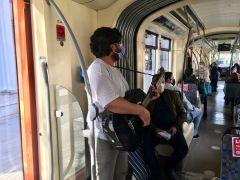 Tramvayda müzik sefası
