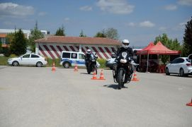 14 polise motosiklet eğitimi verildi