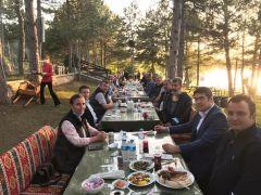 8 sene Eskişehir'de görev yapan Adil Koçaslan için veda yemeği