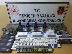 Jandarmadan kaçak sigara ve içki operasyonu