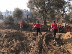 OBAK 3 gündür yangın bölgesinde vatandaşlara yardım ediyor
